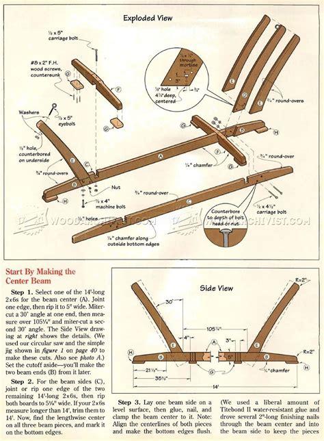 Wood-Hammock-Stands-Plans