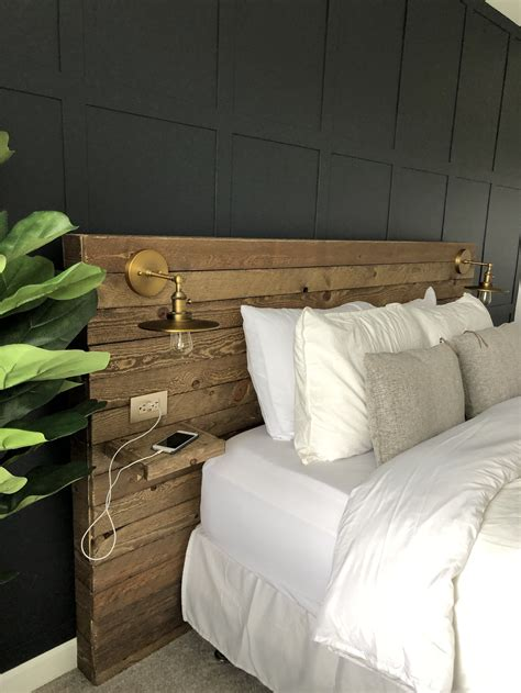 Wood-Headboard-With-Lights-Diy