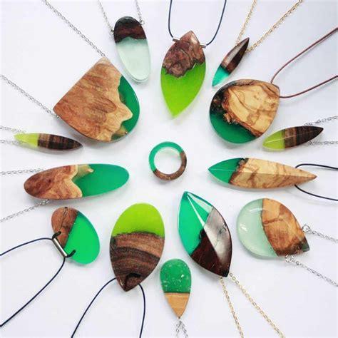 Wood-Jewelry-Resin-Fused-Diy-Ebay