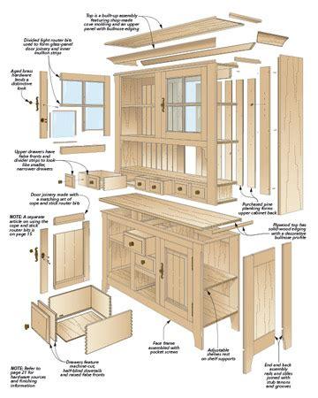 Wood-Kitchen-Hutch-Plans