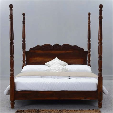 Wood-Queen-Platform-Poster-Bed-Frame-Plans