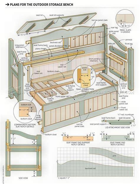 Wood-Storage-Bench-Plans-Free