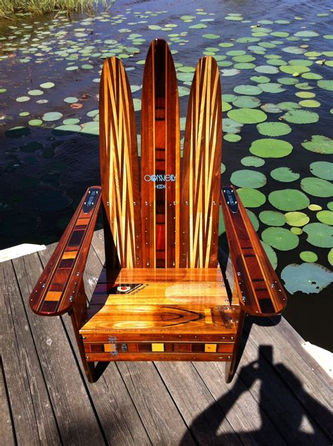 Wood-Water-Ski-Adirondack-Chair