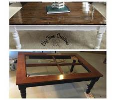 Best Wood and glass coffee table redo
