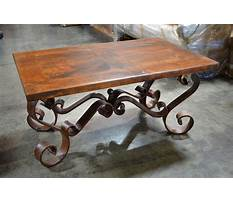 Best Wood and iron coffee table