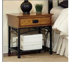 Best Wood and wrought iron night stand