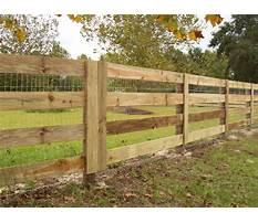 Best Wood horse fence plans