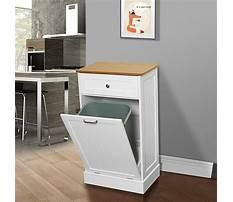 Best Wood kitchen garbage cabinet