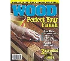 Best Wood plans magazine