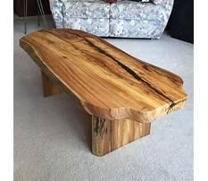 Best Wood slab coffee table canada
