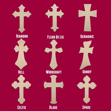 Woodcraft Patterns Unfinished Crosses