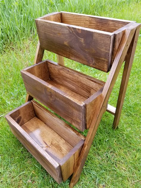 Wooden 3 Tier Planter Box Diy