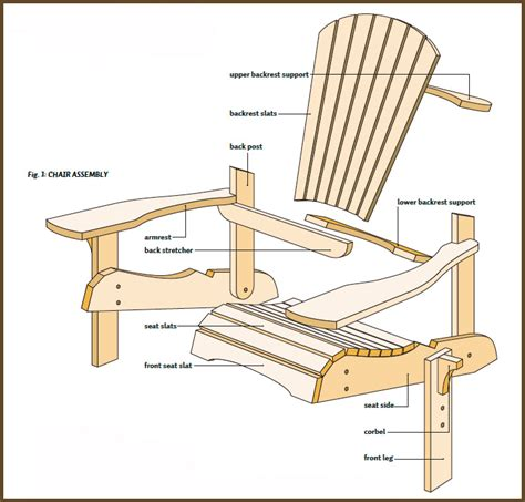 Wooden Adirondack Chair Plans