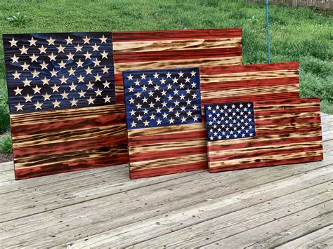 Wooden American Flag Table Diy Dimensions
