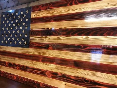 Wooden American Flag Wall Art Plans