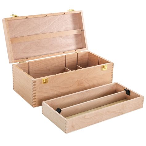 Wooden Art Supply Storage Box Plans