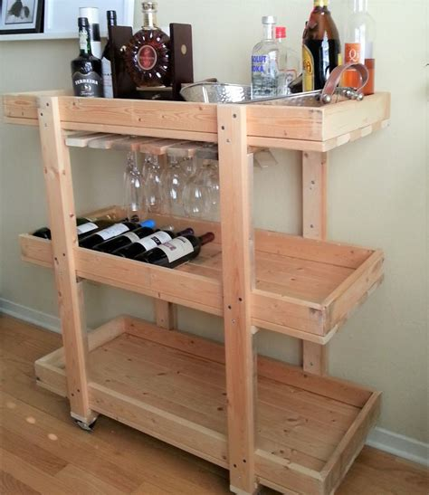 Wooden Bar Cart Diy
