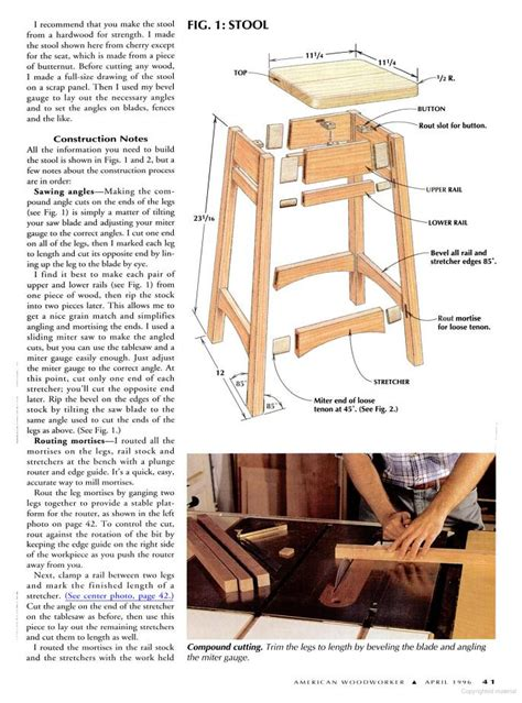 Wooden Bar Stool Plans Free