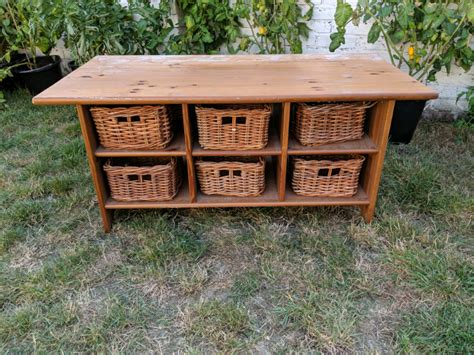 Wooden Basket Coffee Table Diy 6