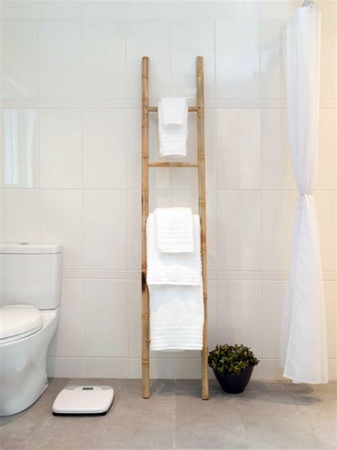 Wooden Bathroom Towel Ladder Plans
