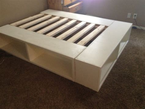 Wooden Bed Frame With Storage Diy