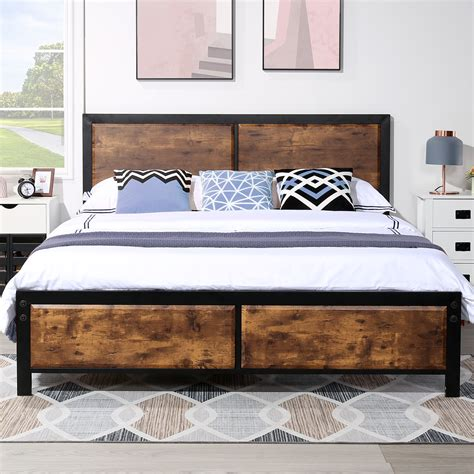 Wooden Bed Frames Queen Diy Headboard