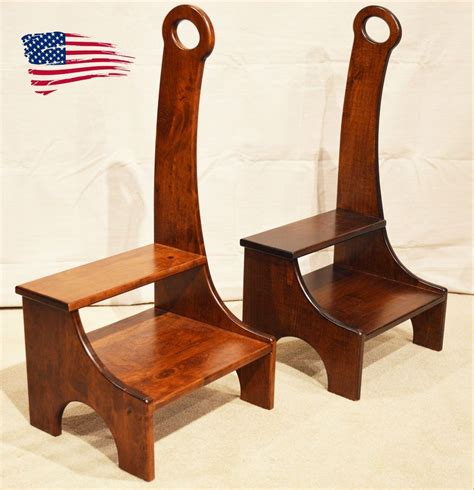 Wooden Bed Step Stools With Handles