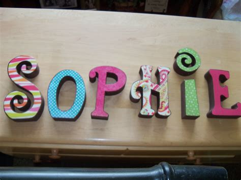 Wooden Block Letters For Crafts