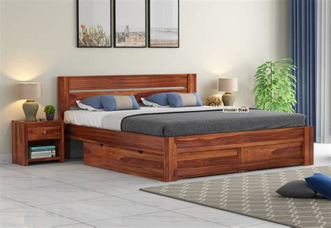 Wooden Box Bed Designs Pictures In India