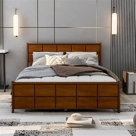 Wooden Box Bed Image