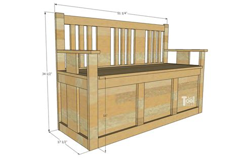Wooden Box Bench Plans