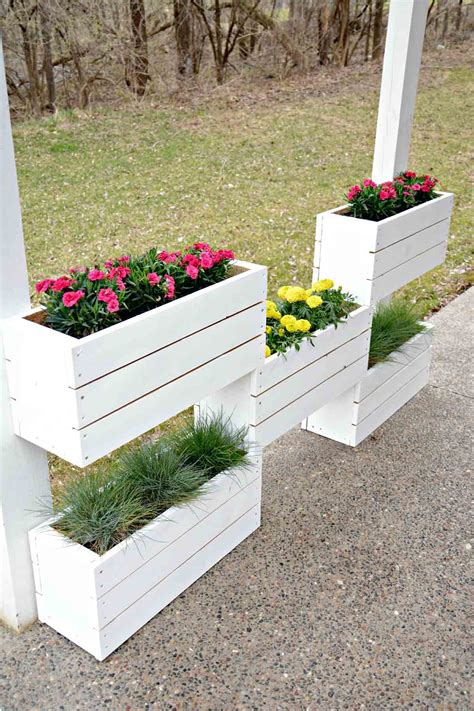 Wooden Box For Flowers DIY