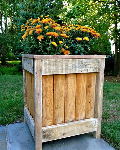 Wooden Box Planters DIY