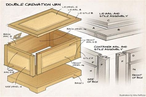 Wooden Burial Urn Plans
