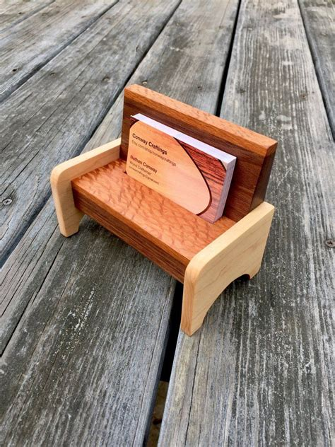 Wooden Business Card Holder Plans