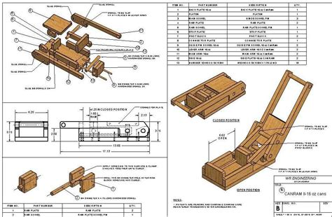 Wooden Can Crusher Plans For Free