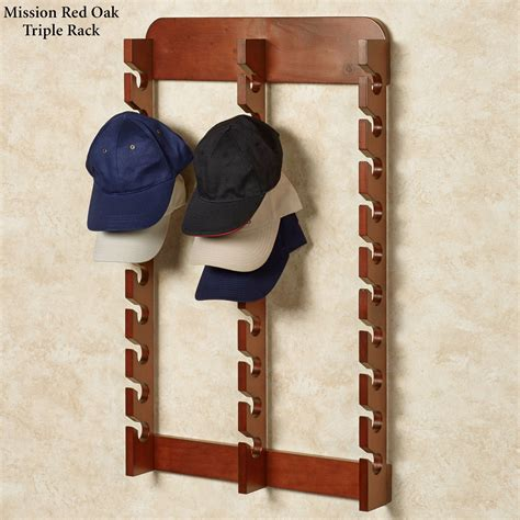 Wooden Cap Racks Wall Mounted