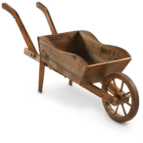 Wooden Cart Planter