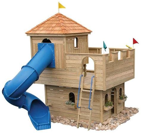 Wooden Castle Playground Plans