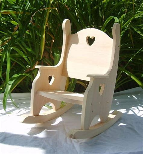 Wooden Child Chair Plans