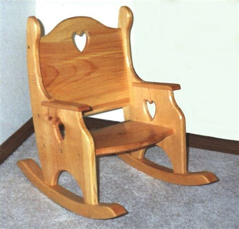 Wooden Childs Rocking Chair Plans