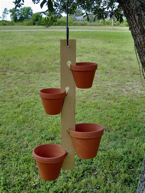 Wooden Clay Pot Hanger Plansee