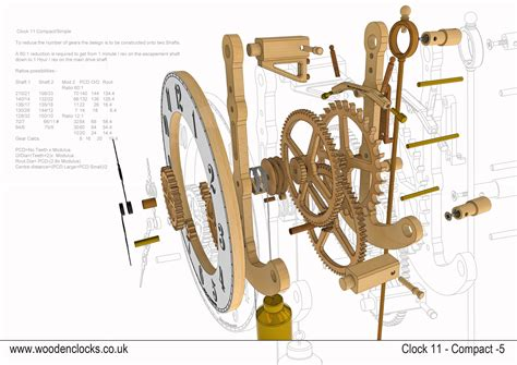 Wooden Clock Plans Dwg
