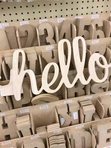 Wooden Craft Letters Hobby Lobby