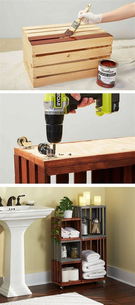 Wooden Crate Shelves Diy Projects