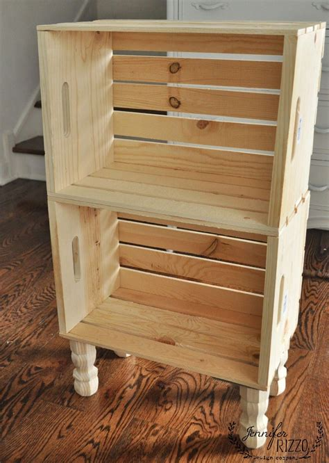Wooden Crate Side Table Diy