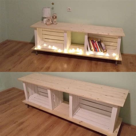 Wooden Crate Tv Stand Diy Palletes