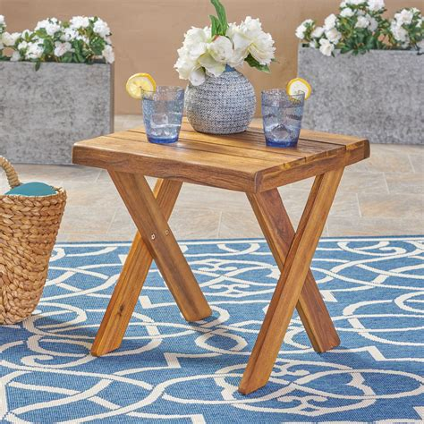 Wooden Deck Side Tables