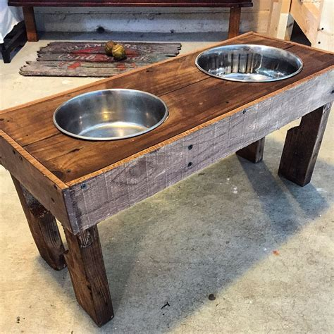 Wooden Dog Bowl Stand Diy