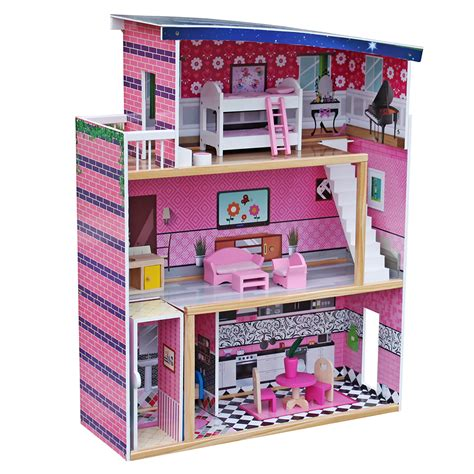 Wooden Dollhouse Furniture Pack